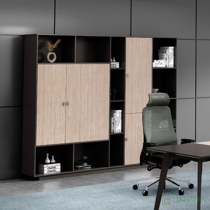 广立家具卡宾系列文件柜办公资料柜木质板式简约
