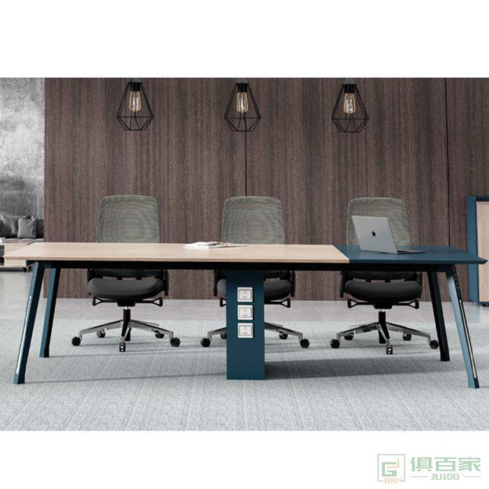 广立家具绅士系列简约现代长条桌长桌会议室桌培训桌