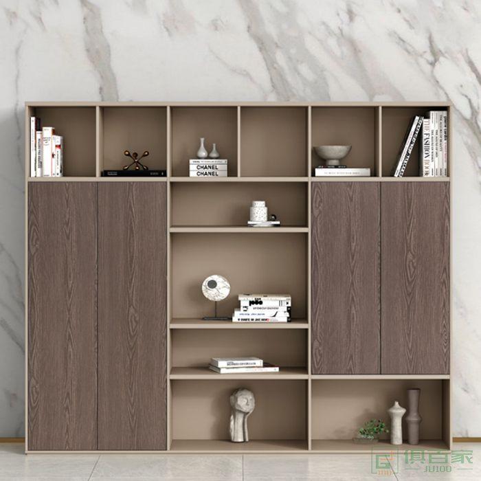 广立家具卡其系列文件柜木质高柜老板办公室书柜