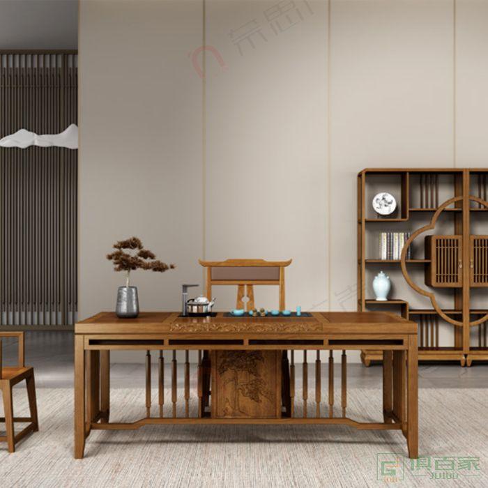 广立家具瑞系列茶台新中式