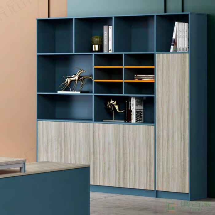 广立家具罗马系列文件柜经理桌背柜