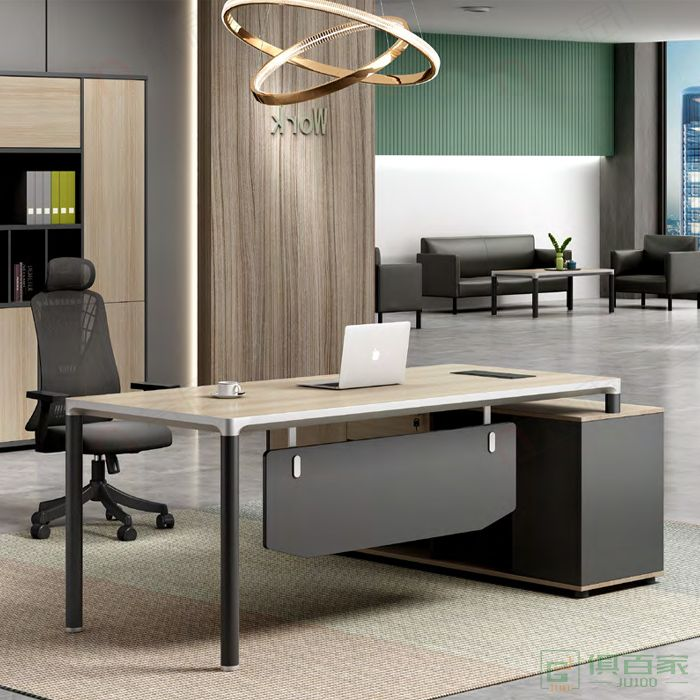 广立家具领克系列中班台经理桌主管桌