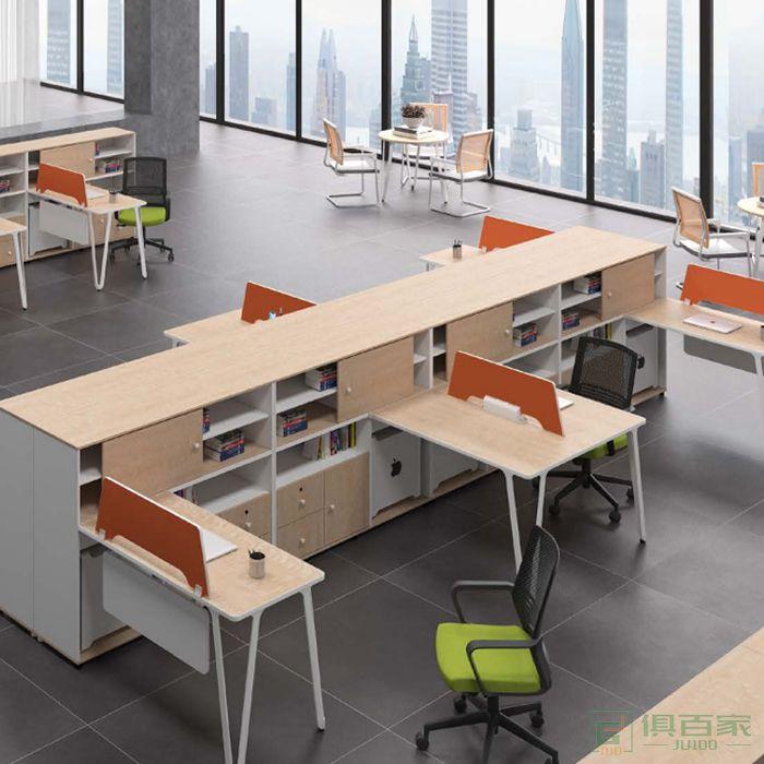 钜晟家具简约现代办公家具2人职员桌办公室屏风工位