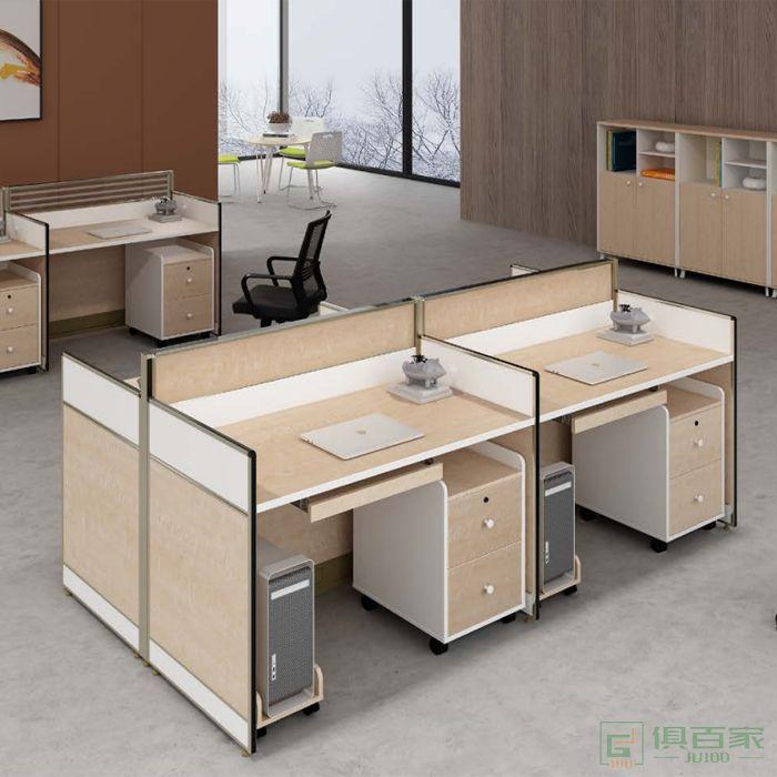 钜晟家具办公室四人卡位屏风位职员办公桌椅