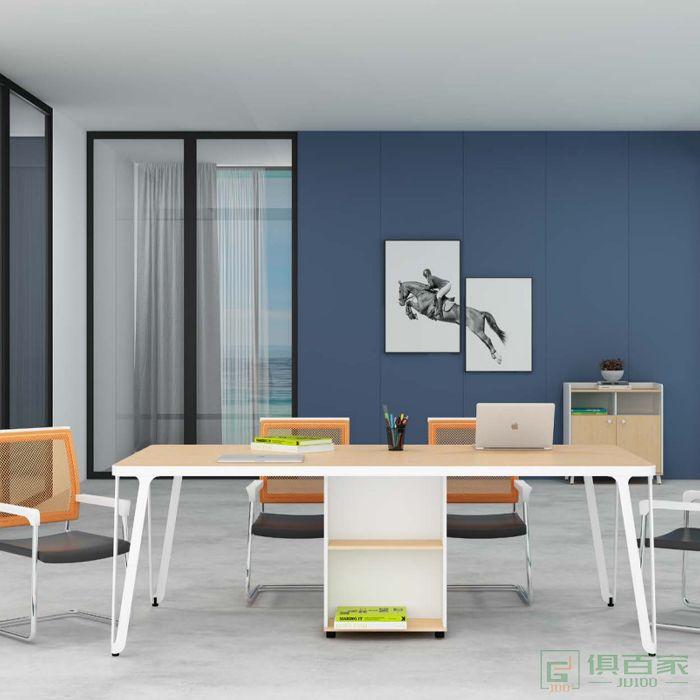 钜晟家具办公室小型会议桌长桌简约现代条形桌员工