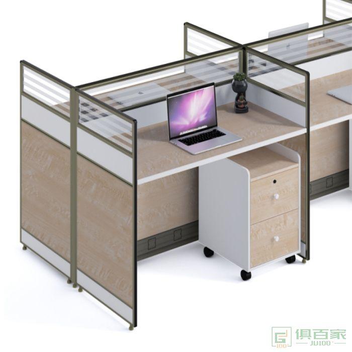 钜晟家具办公桌四人位职员桌员工桌财务桌