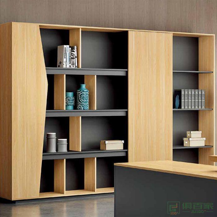 江南家具维诺系列办公家具文件柜 木质高柜老板办公室书柜
