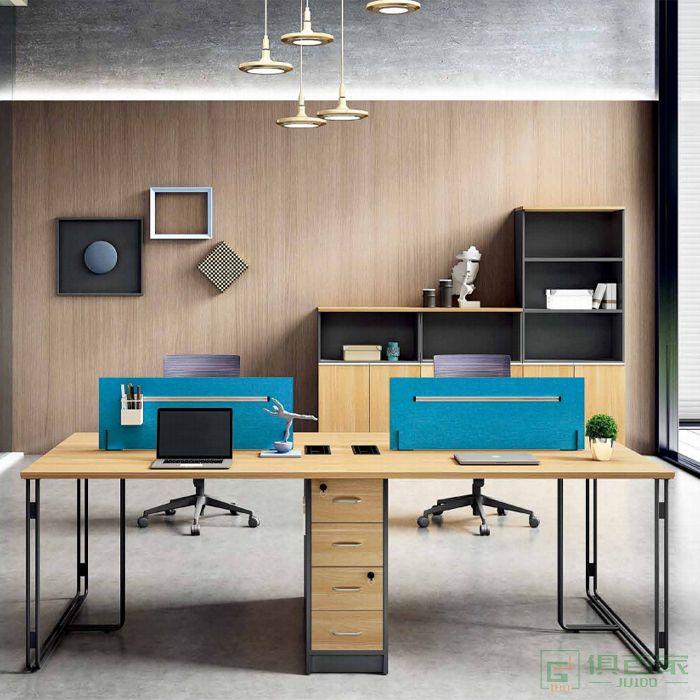 江南家具维诺系列办公桌简约现代4四人位职员桌工位桌