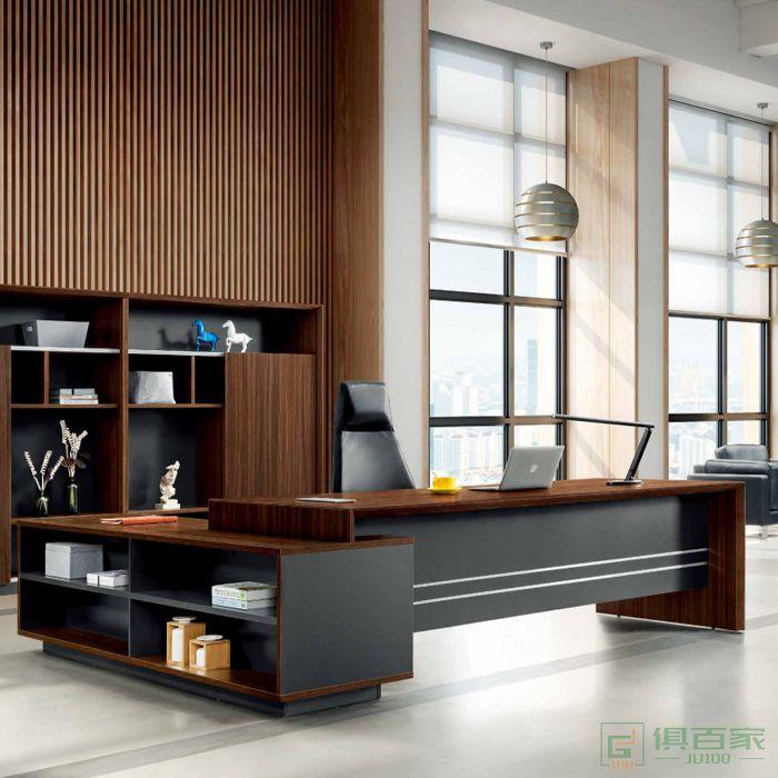 江南家具科特系列经理总裁桌子简约现代办公室家具大班台单人