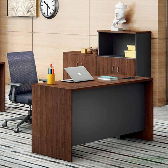 江南家具路易系列电脑桌办公桌单人位储藏柜