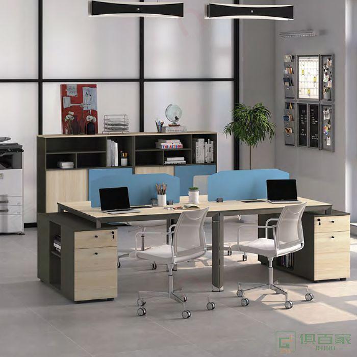 广立家具沃克系列职员桌对坐两人位延伸位