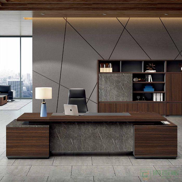 江南家具尚美系列总裁老板桌经理办公室桌