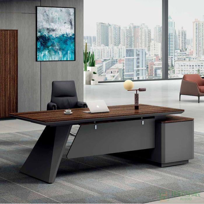 江南家具科比系列老板桌简约现代商用办公室家具