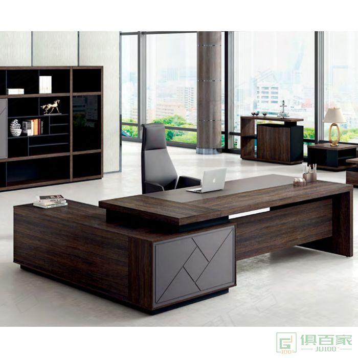 广立家具艾利斯系列班台老板桌
