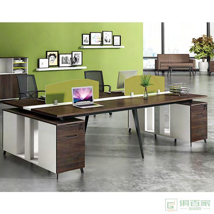广立家具罗维系列职员桌对坐四人位