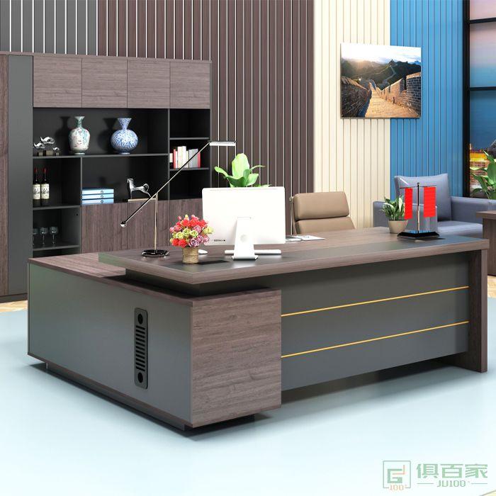 艾立森家具森度系列老板桌总裁桌大班台简约现代主管经理桌