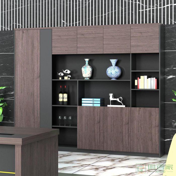 艾立森家具森度系列办公家具文件柜 木质高柜老板办公室书柜