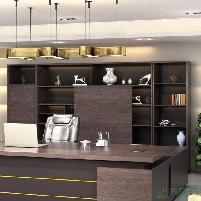 艾立森家具森度系列木质高柜老板办公室书柜