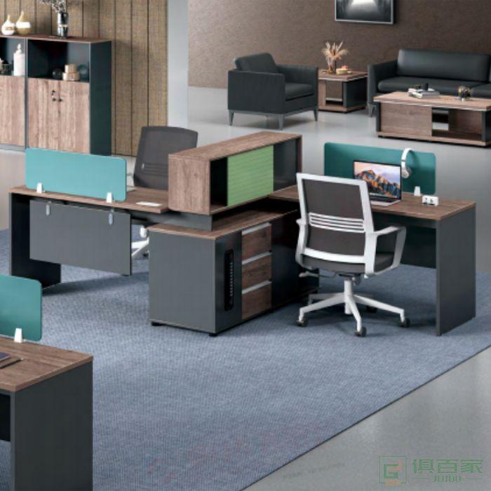 艾立森家具森度系列员工桌子办公室职员桌简约现代屏风工作位