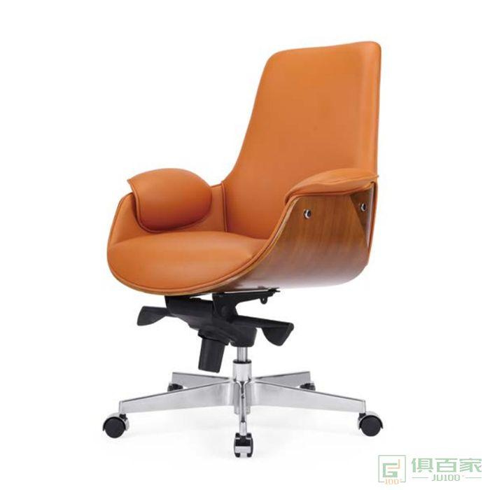 桦桂家具老板椅真皮办公椅子可躺