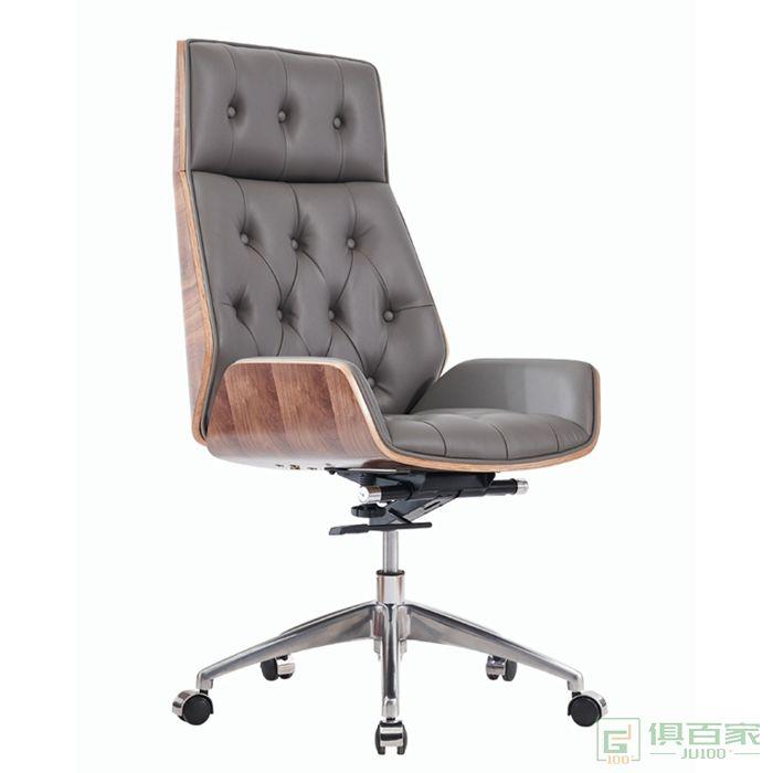 桦桂家具现代简约电脑椅子真皮家用老板椅办公转椅