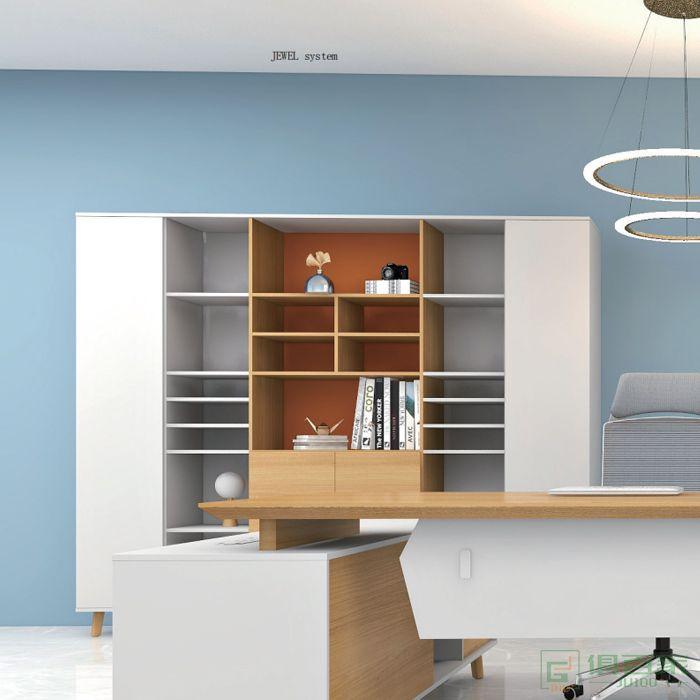 福玛仕家具简星系列文件柜木质高柜老板办公室书柜简约