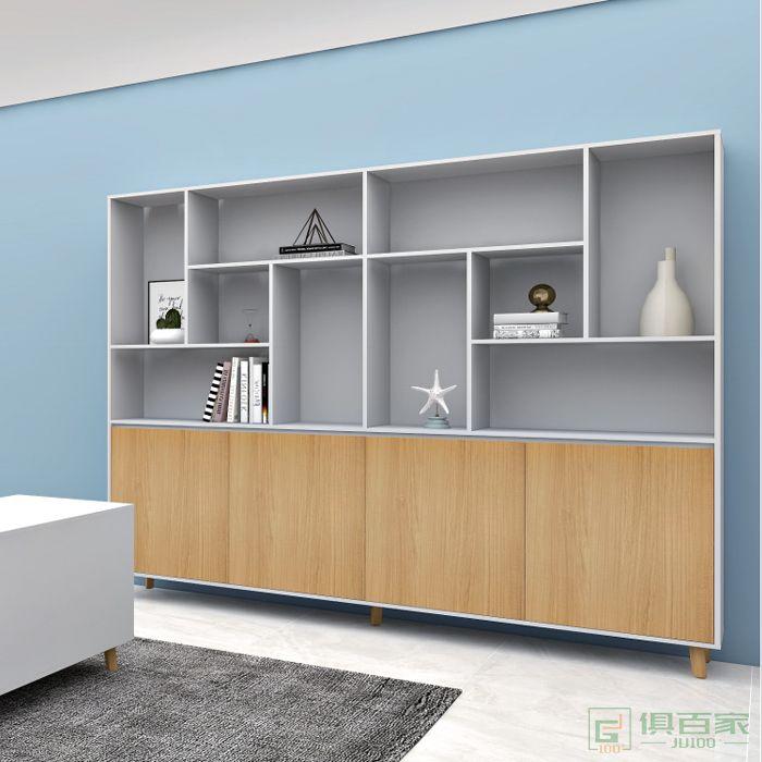 福玛仕家具简星系列木质高柜老板办公室书柜 简约现代资料柜背景柜子