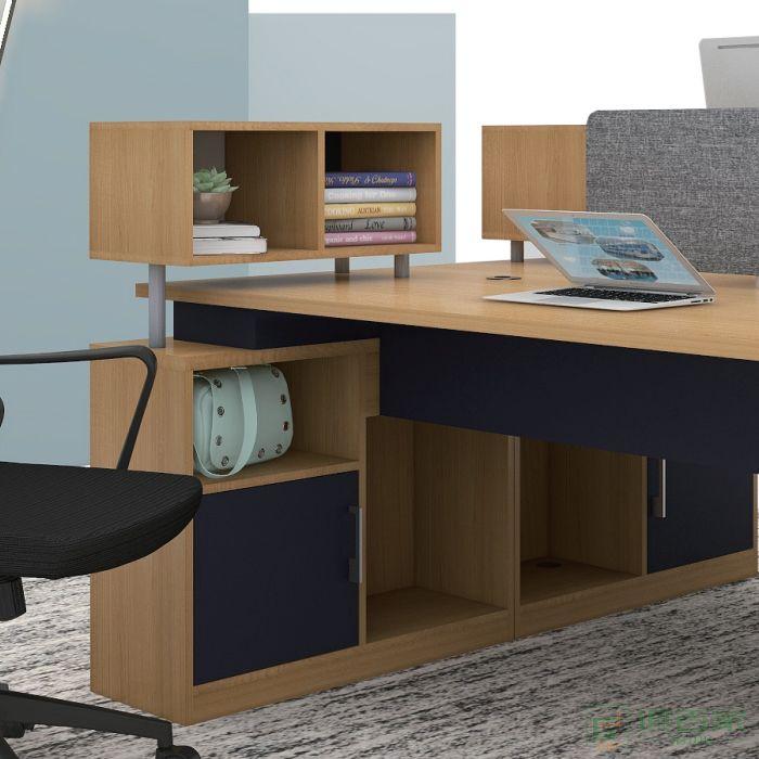 福玛仕家具简艺系列双人位职员桌工位简约现代屏风桌卡位办公桌