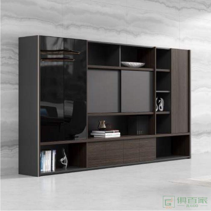 沃盛家具品爵系列文件柜木质高柜背景柜