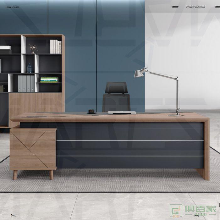 福玛仕家具简悦系列办公桌老板桌主管总裁办公室大班台
