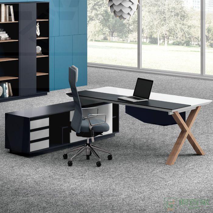 福玛仕家具简格系列大班台简约现代办公家具