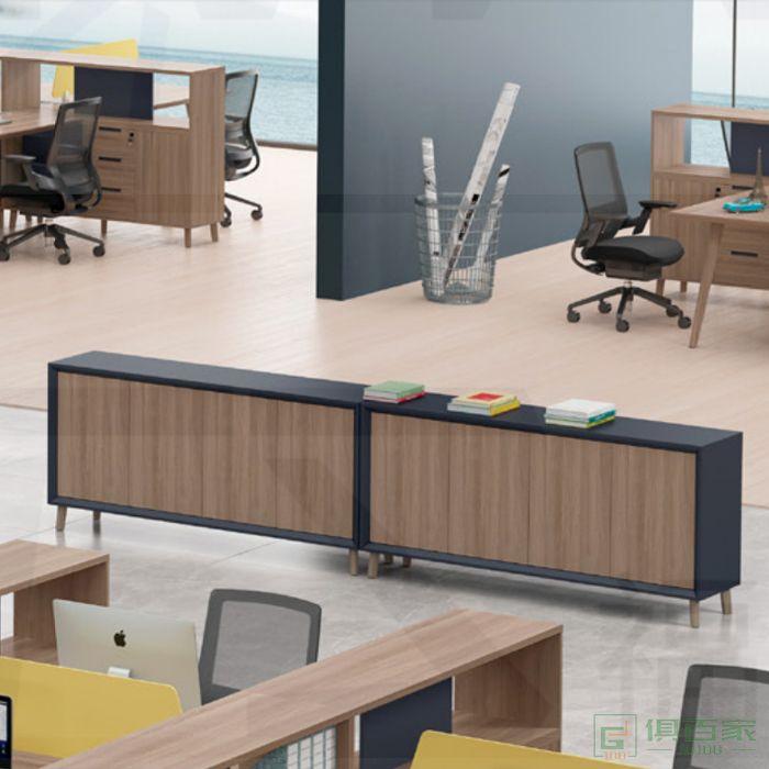 福玛仕家具简悦系列办公家具文件柜 木质高柜老板办公室书柜