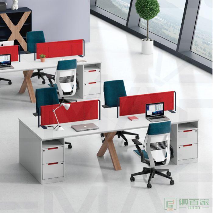 福玛仕家具简格系列简约现代办公家具2职员桌